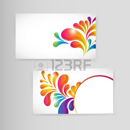 Sample Business Card With Bright TeardropShaped Arches  Drop