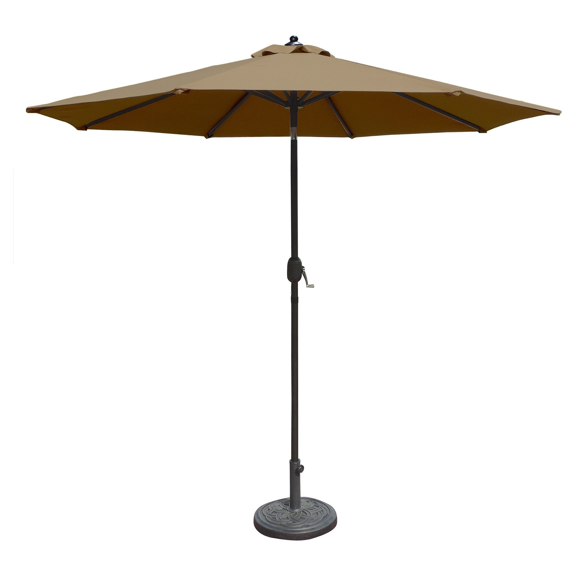 Island Umbrella Mirage 9 Market Umbrella In Stone Olefin