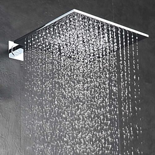 10 Inch Rainfall Eco friendly Contemporary Rain Shower Chrome Feature  Head At FaucetsDeal