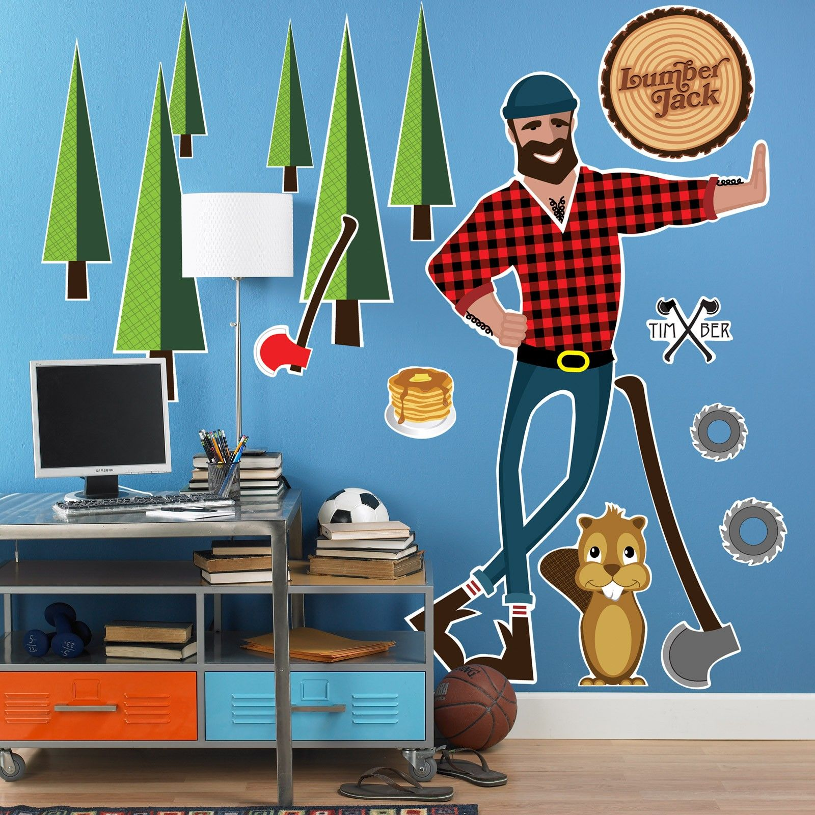 Lumber Jack Birthday Party wall decals Lumber Jack Birthday Party
