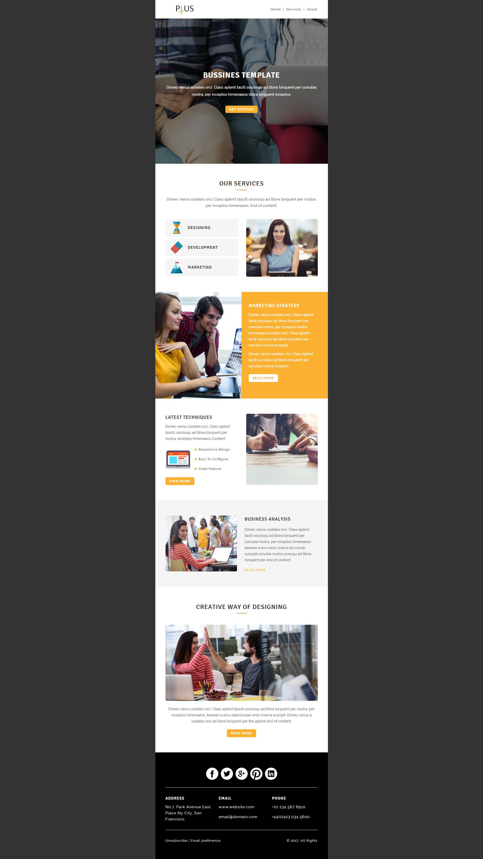 Design editable responsive html email template | Newsletter ...