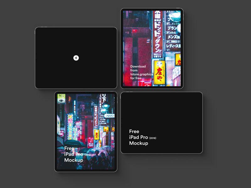 Download free UI design Free iPad Pro 2018 Mockup | UI Store