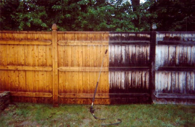 BEFORE & AFTER FENCE! Pressure washing, Spring cleaning