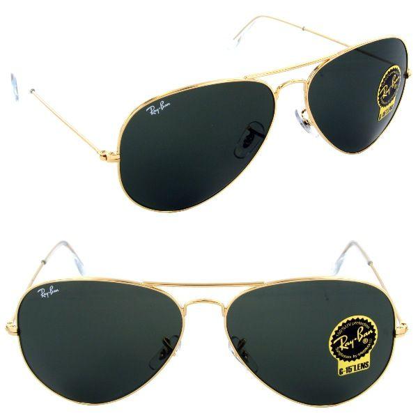 ray ban rb3026 aviator metal gold sunglasses