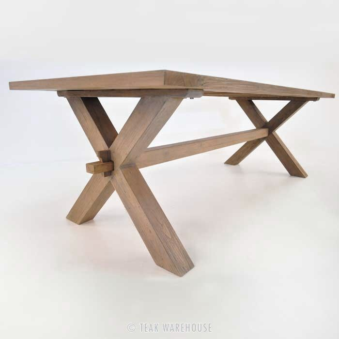 Rustic X Leg Teak Dining Table Teak Dining Table Dining Table Wooden Picnic Tables