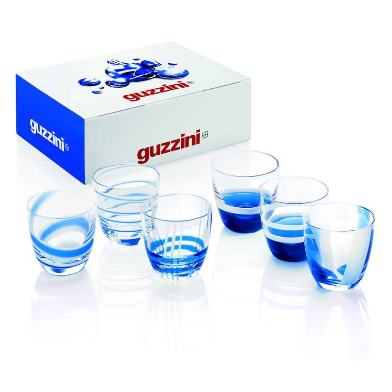 SET 6 BICCHIERINI LIQUORE BLU- TABLE ART