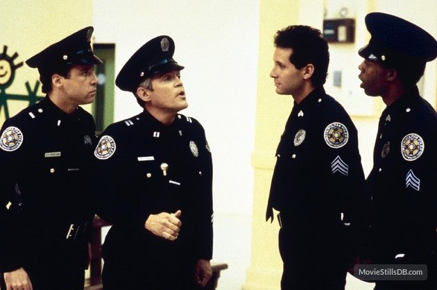 Police Academy 4 Citizens On Patrol Publicity Still Of Steve Guttenberg G W Bailey Police Academy Police Academy Movie Police