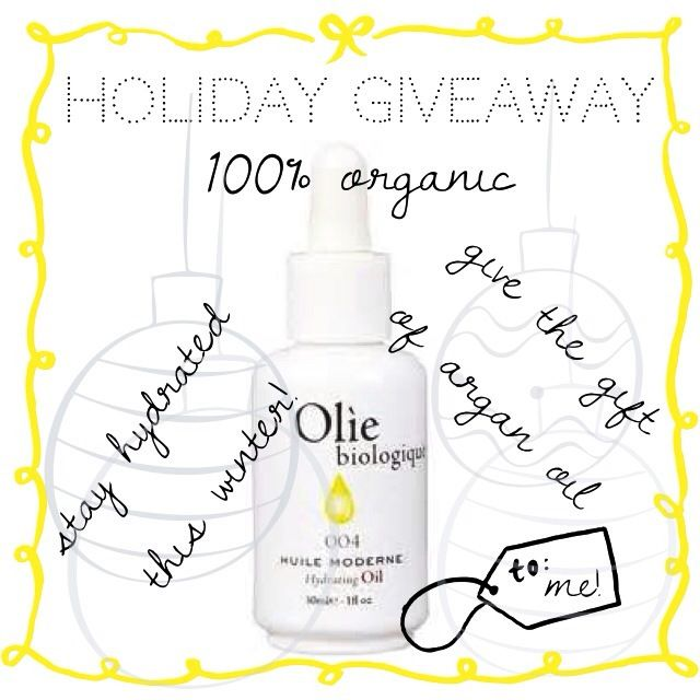 Holiday Giveaway: Organic Face Oil from Olie Biologique – Style Context