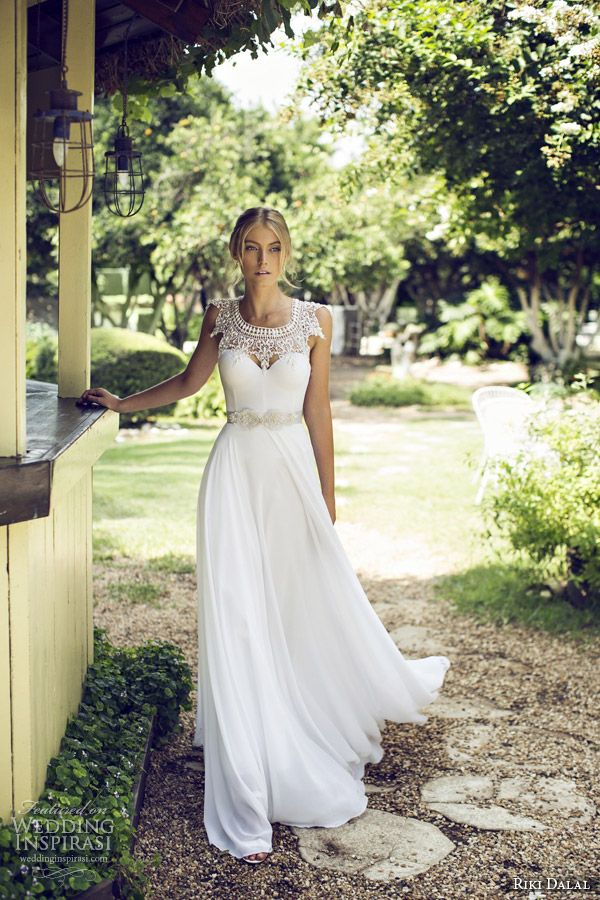 riki dalal bridal 2015 provence beautiful wedding dress 1509 *love the bodice, cinched waist and the flow of the skirt*