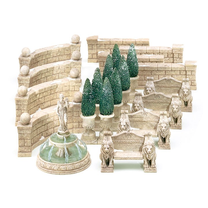 Department 56 Village Limestone Topiary Accessory Figurine Set of 2