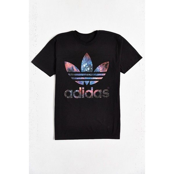 adidas Originals Galaxy Trefoil Tee (381.375 IDR) ❤ liked on Polyvore  featuring tops, · Mens Short Sleeve ShirtsT ...