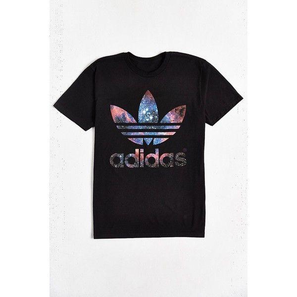 adidas Originals Galaxy Trefoil Tee (381.375 IDR) ❤ liked
