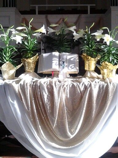 Altar Table The Fabric And The Draping Of It Is Just Exquisite, Donu0027t