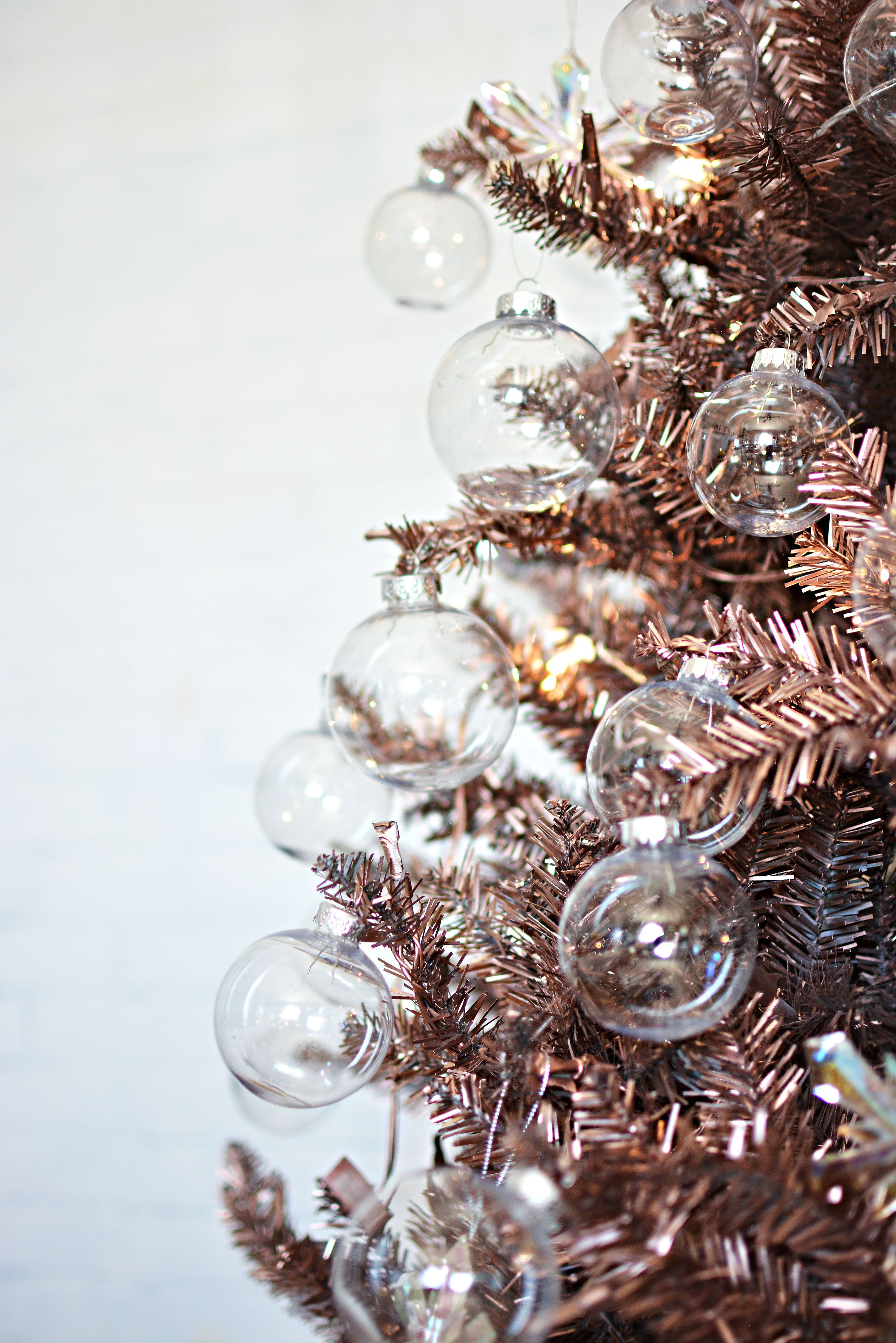 diy rose gold christmas tree feliz navidad pinterest