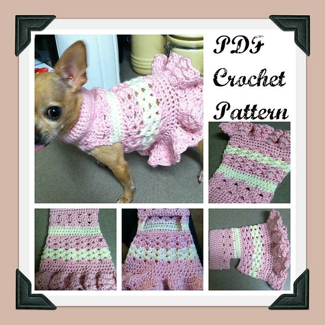This is a PDF pattern for the Littlest Bo Peep Crochet Dog Dress. It is a light and airy design that's just perfect for summer, and the cute ruffled skirt adds a touch of flair. Pattern included detailed instructions as well as photos to demonstrate. If you have any questions at all about this pattern, you can always feel free to email me for help.