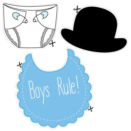 Download our free printable baby shower photo props for a blue - baby shower template