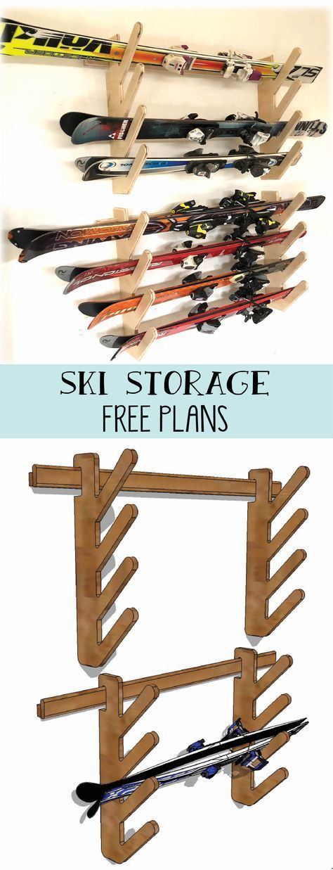 Skiaufbewahrung. Bauen Sie ein einfaches und dennoch robustes DIY-Gestell für Skier oder andere Sportgeräte #garageplans