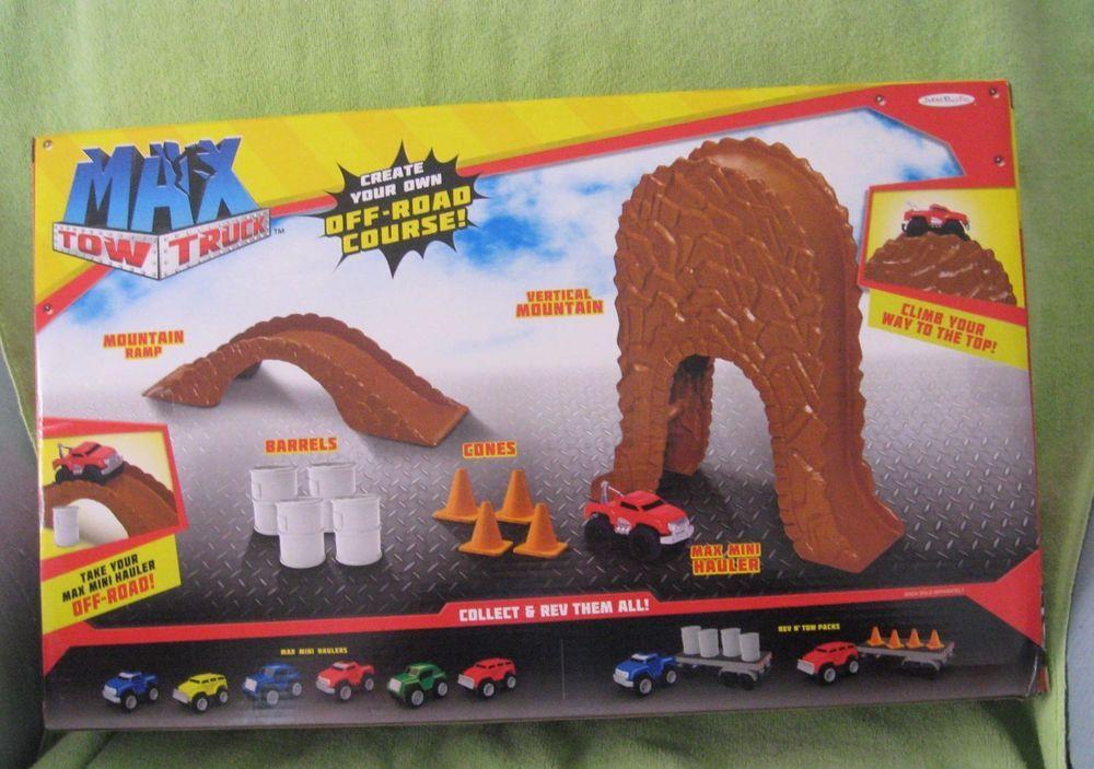 Max Tow Truck Max Mini Off Road Play Set New In Box Jakkspacific