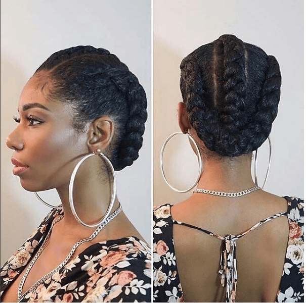 Simply Elegant Dutch Braids Ig Chimeedwards Naturalhairmag Natural Hair Styles Goddess Braids Natural Hair Updo