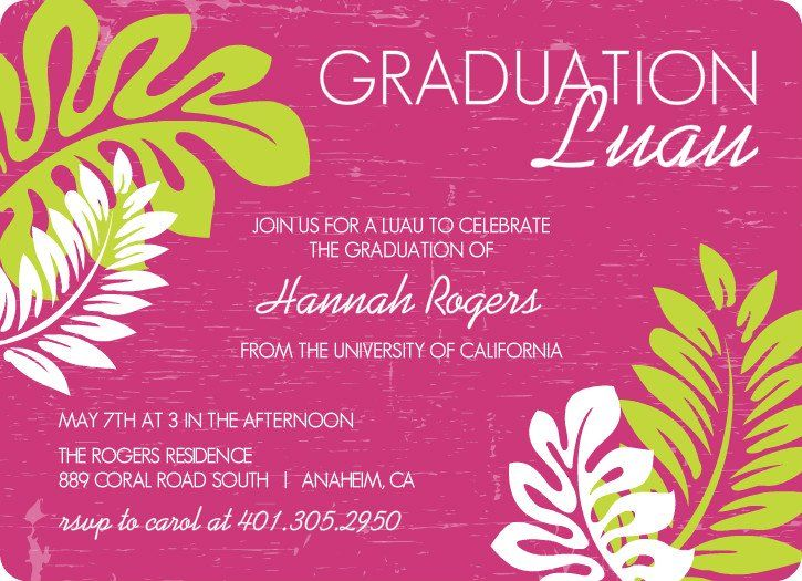Outdoor Graduation Party Ideas, Themes, \ Invitation Wording Luau - fresh invitation wording for trunk party