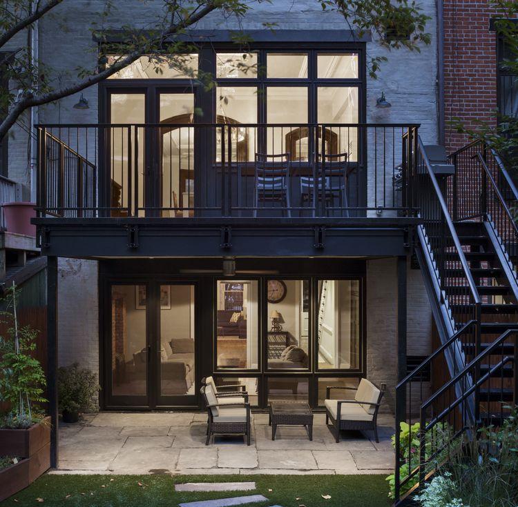 Marvin windows in Park Slope brownstone