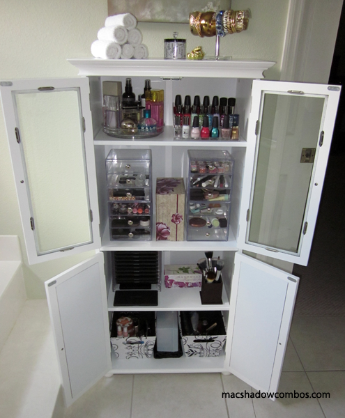 Makeup Cabinet With Images Makeup Storage Makeup Storage Organization Makeup Storage Solutions