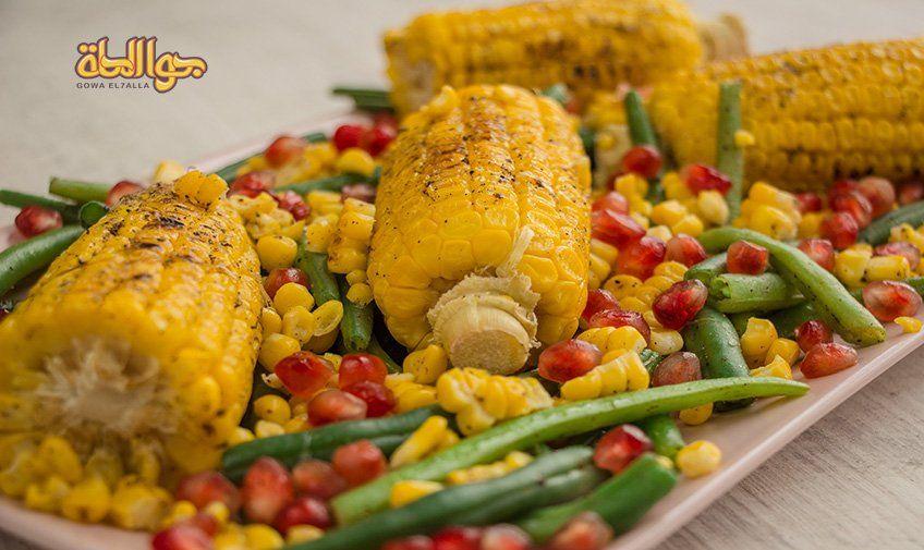 طريقة تحضير سلطة الفاصوليا والذرة المشوية جوا الحلة Food Writing Food Recipes
