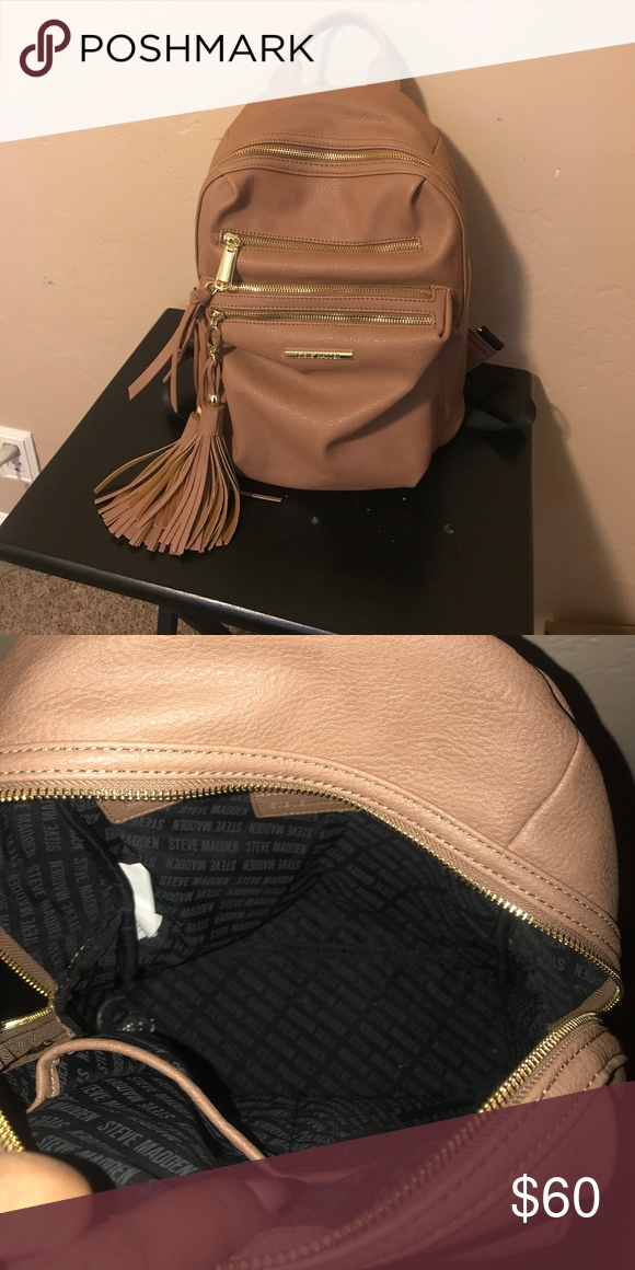 51a1f3119d3 Nude Steve Madden backpack New just too small for me! Super cute for ...