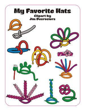 My Favorite Balloon Hats | Easy Balloon Animals, Balloon Hat, Balloon  Animals