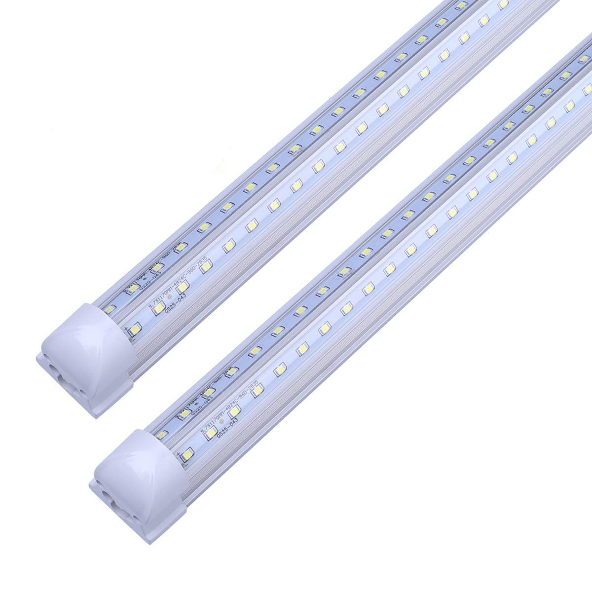 V Shape Integrated Led Tube Light 8ft 72w 150w Fluorescent Equivalent Works Without T8 Ballast Plug And Play Clear Lens Co Led Tube Light Tube Light 150w