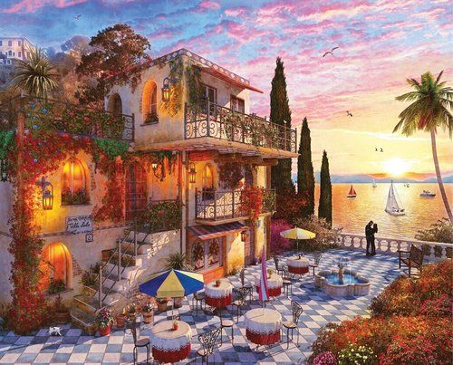 Photo of Mediterranean Romance – 1000pc Jigsaw Puzzle By Springbok