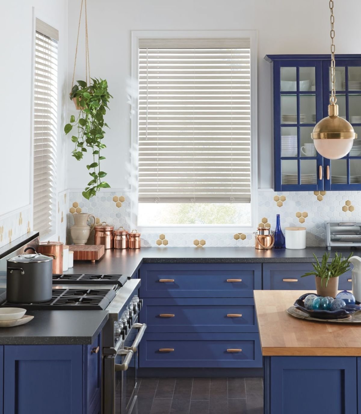 Your Kitchen Is Oftentimes The Focal Point Of Your Home By Working With Us To Choose The Perfect Hunter Douglas W Rustic Kitchen Kitchen Blinds Trendy Kitchen