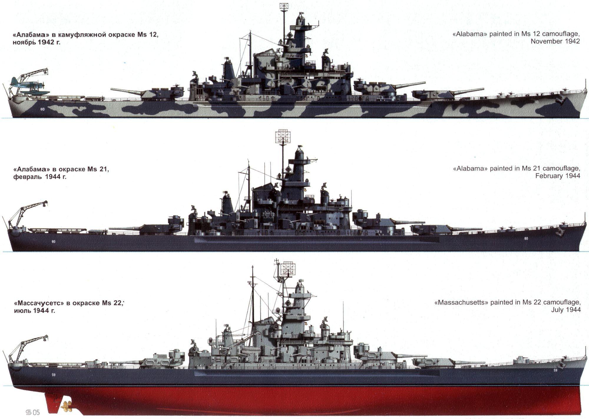 usn battleships: uss alabama (bb-60) & uss massachusetts (bb-59)