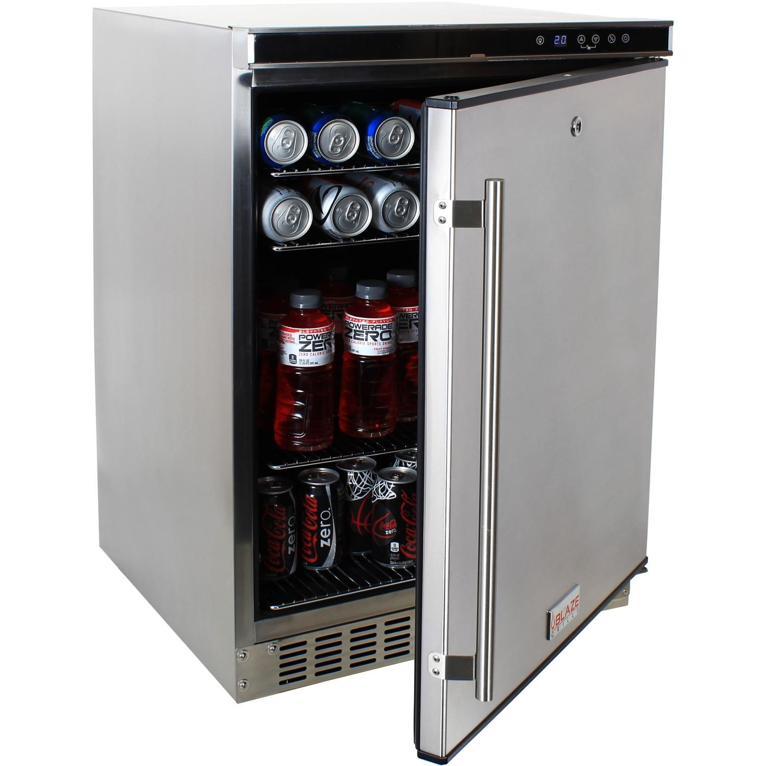 Blaze 24-Inch Outdoor Stainless Steel Compact Refrigerator - UL ...