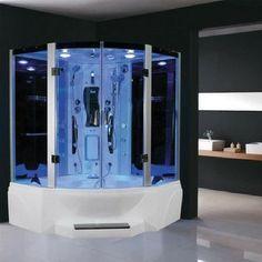 110v Etl Certified Us Canada Electrical Safety Whirlpool Bath Tub With 10 Massage Jets 110v Modern Bathroom Design Bathroom Design Steam Shower Enclosure