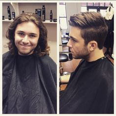 Before And After Men S Haircut By Gabby N At Avante On Main Street Salon Exton Pa Before And After Haircut Haircuts For Men Long Hair Styles Men