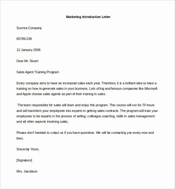28 Business Introduction Letter Template In 2020 Introduction