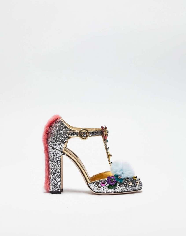 17618e3a1e18f Collezione scarpe Dolce e Gabbana Autunno-Inverno 2016-2017 - Dcécolleté  con applicazioni Dolce