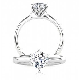 Platinum Protea Solitaire Diamond Engagement Ring Solitaire Engagement Ring Diamond Engagement Rings Classic Engagement Rings