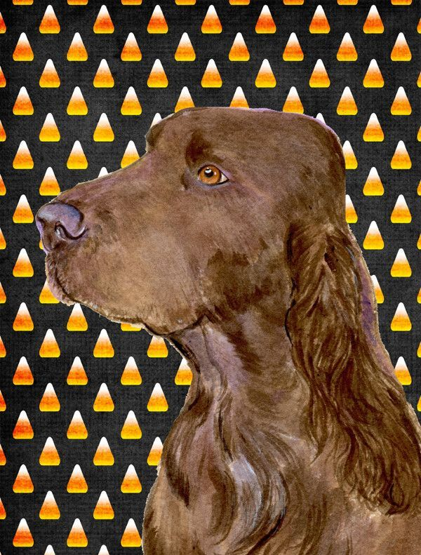 Field Spaniel Candy Corn Halloween Portrait Flag Garden Size