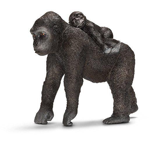 Schleich North America 224612 Male Gorilla Toy Figure Black