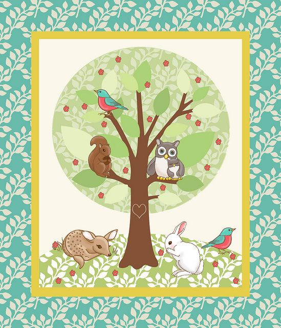 Woodland friends quilt top baby fabric fabric panels and quilt top baby fabric panels for quilts woodland recent photos the commons getty collection galleries world map gumiabroncs Images