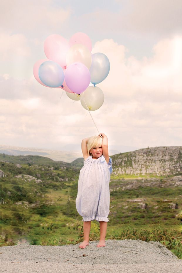 balloons and sky.