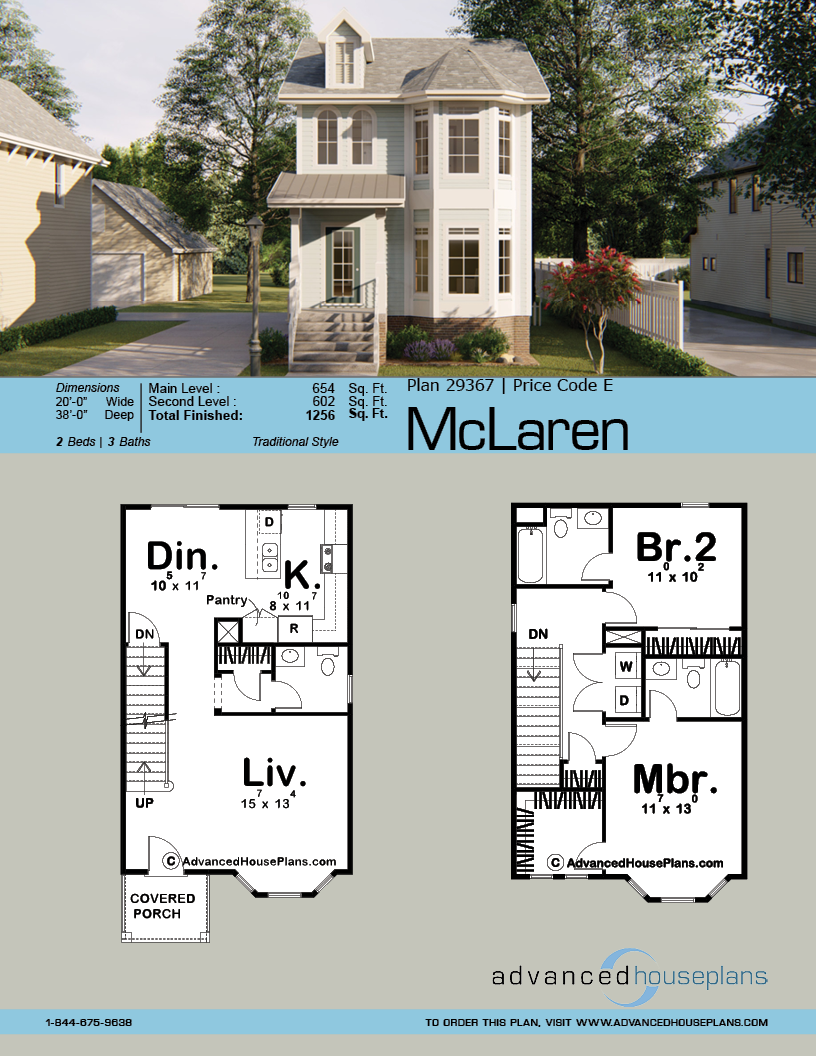 2 Story Victorian House Plan Mclaren Victorian House Plans Narrow Lot House Plans House Plans