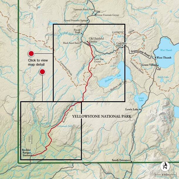 Best Yellowstone National Park Hike Trail Map National