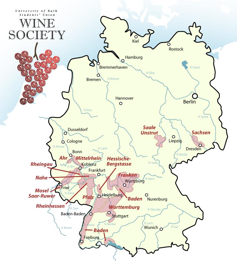 German Wine Map AmaWaterways AmaPrima Pinterest Wine Wine - Germany vineyards map
