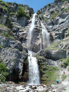 Stewart Falls Near Sundance Ski Resort Provo Canyon Utah