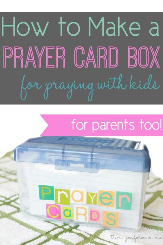 How To Make A Prayer Card Box For Praying With Your Kids Prayers For Children Prayer Cards Bible Prayers