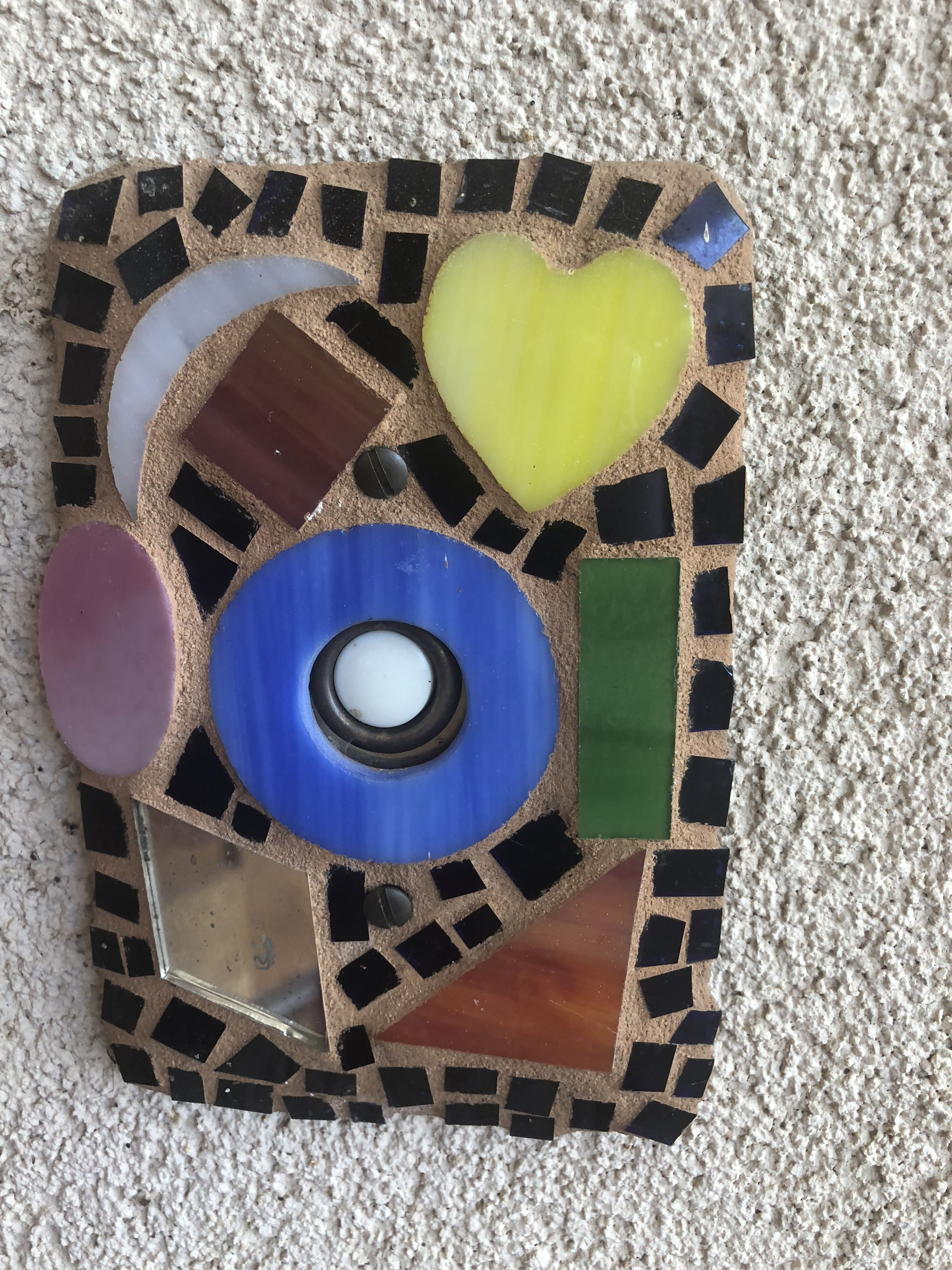 A Mosaic Exterior Doorbell Plate Or Easily Modified To Be An Interior Light Switch For Your Home