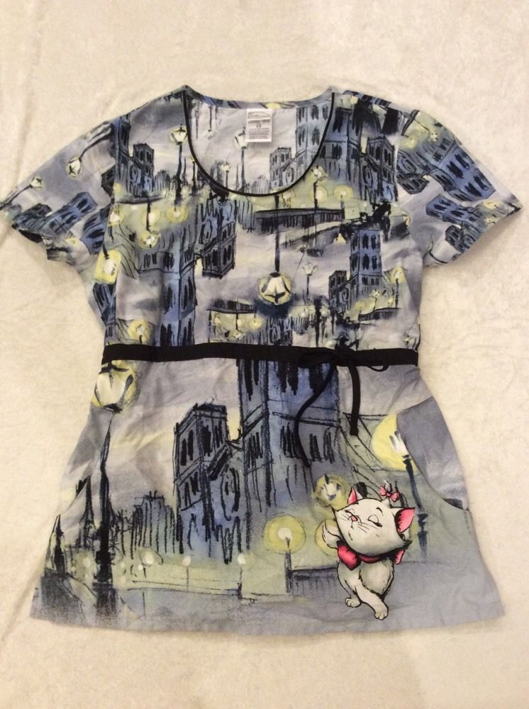 Awesome Aristocats Scrub Top Xs Womens Disney Nursing